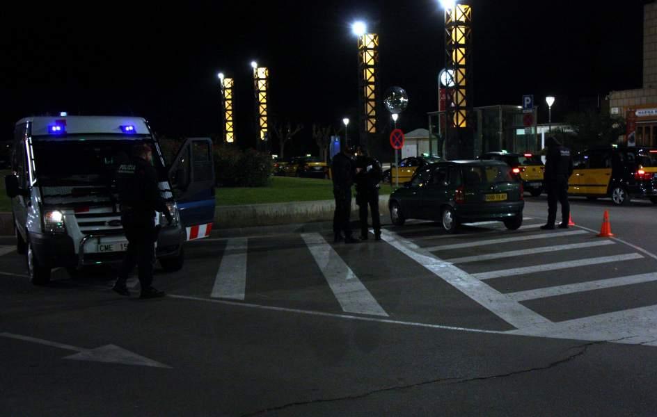 Policia atemorida.