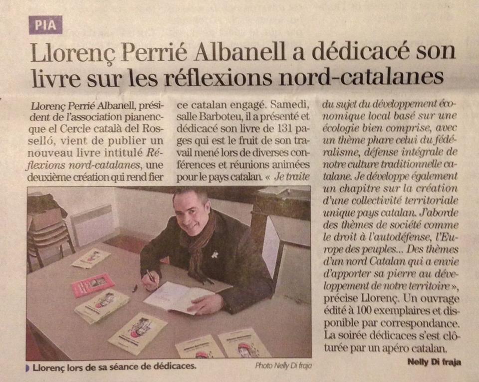 Reflexions nord-catalanes de Llorenç Perrié Albanell.